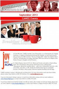 CAWEE September Newsletter