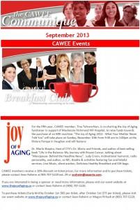 CAWEE September Newsletter